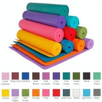 YogaAccessories (TM) 1/4`` Extra Thick High Density Yoga Mat (Phthalate Free) - Black: Sports &amp; Outdoors