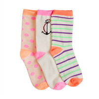 Girls' trouser socks - socks & tights - Girl's jewelry & accessories - J.Crew