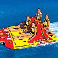 SportsStuff Bandwagon 2+2 Towable Ski Tube 4-Person: Sports &amp; Outdoors