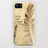 Go Like a Feather in the Wind iPhone Case by RDelean