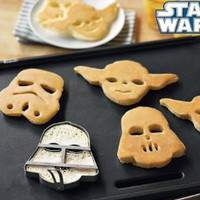 Star Wars Pancake Molds, Set of 3 Heroes and Villains: Yoda, Darth Vader, Stormtrooper: Kitchen & Dining