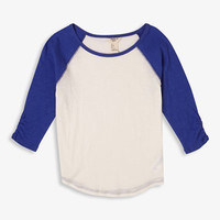 Ruffled Sleeve Baseball Tee | FOREVER 21 - 2049250780