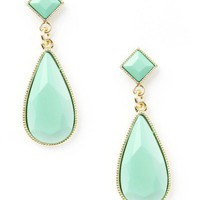 Miss Golightly Earrings In Green (20% off) by LYLIFclothing - Chictopia