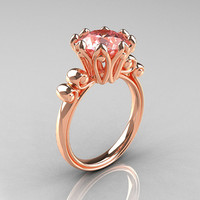 Modern Antique 18K Rose Gold 30 Carat Morganite by artmasters