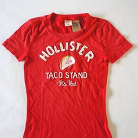 "Hollister Graphic Tshirt New Tags ""Taco"" Sold Out! Size XS"