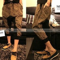 New Fashion Men Stylish Trendy Leopard Trousers Harem Pants MPT095