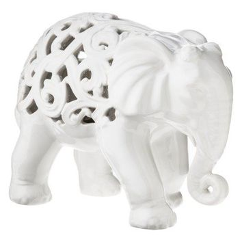 Three Hands White Elephant Figural