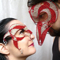 Grand mens Venetian wire masquerade mask by gringrimaceandsqueak