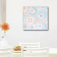 SUMMER original abstract painting gallery fine by linneaheideart