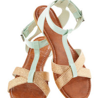 Glint of Mint Sandal | Mod Retro Vintage Sandals | ModCloth.com