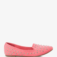 Spiked Canvas Loafers | FOREVER 21 - 2023032124