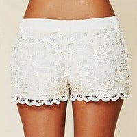 Free People  Battenburg Lace Shorts at Free People Clothing Boutique