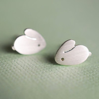 Tiny Bunny Earring Studs