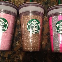 New Starbucks Coffee Tea Medium 16 oz. Grande Mark It Tumbler Cold Cup