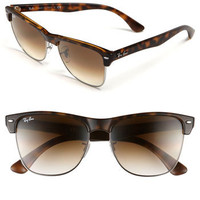 Women's Ray-Ban 'Highstreet' 57mm Sunglasses - Demi Black/ Green Solid
