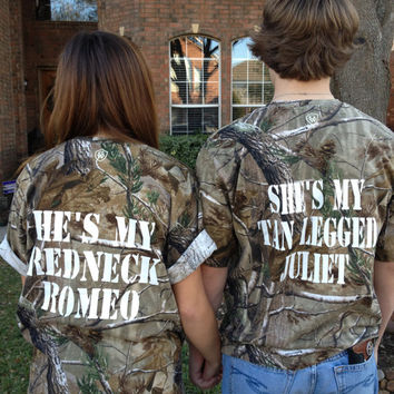 Couples Camo Redneck  Romeo & Juliet T-Shirts