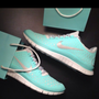 NIKE FREE RUN 3.0 V4 TROPICAL TWIST TIFF BLUE GREEN SIZE 8