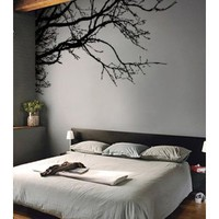 "Vinyl Wall Decal Sticker Tree Top Branches (M) 100"" W X 44"" H"