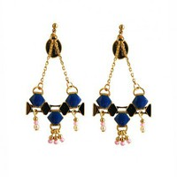DIEGO Deep Blue Chandelier Earrings from Objets Obscurs | Made By Objets Obscurs Bijoux | £45.00 | Bouf
