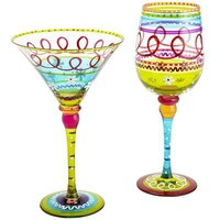 Spring Festive Stripe Stemware