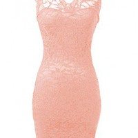 Lace Bodycon Dress - 29 N Under