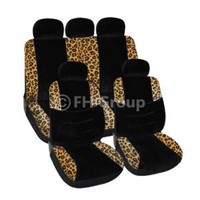 FH-FB080115 Lush Velour Seat Covers, Airbag compatible and Split Bench, Leopard Print / Black : Amazon.com : Automotive