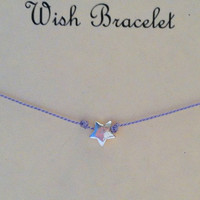 Wish Upon A Star Wish Bracelet Sterling by Jennasjewelrydesign