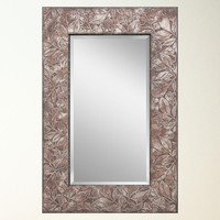 Illuminada - Carved Leaf Rustic Mirror (8699) - Decorative - Mirrors