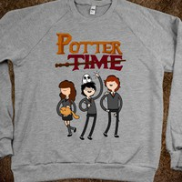 Potter Time (crew neck) - Geekdom - Skreened T-shirts, Organic Shirts, Hoodies, Kids Tees, Baby One-Pieces and Tote Bags