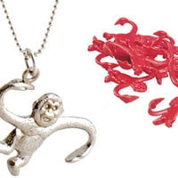 BARREL O' MONKEYS NECKLACE