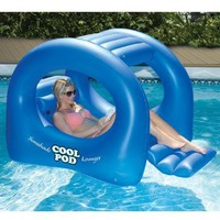 Coolpod Sunshade Lounger Swimming Pool Float: Patio, Lawn &amp; Garden