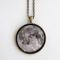 Moonchild Necklace Grey by NinaMantra on Etsy
