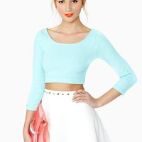 Caprice Crop Top - Mint