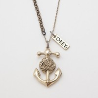 OBEY CLOTHING -  OBEY ANCHOR KNOT NECKLACE