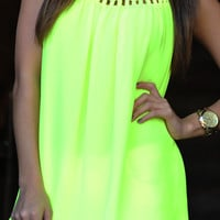 Glow For Me Tank: Neon Yellow | Hope's