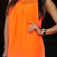 Glow For Me Tank: Neon Orange | Hope's