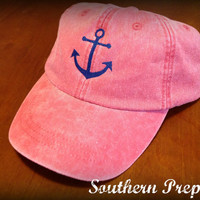 Anchor Baseball Cap by SouthernPrepCo on Etsy
