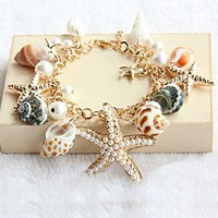 accessoryinlove  Beach Holiday Starfish Bracelet
