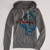 AEO Men's Graphic Hoodie Tee (Grey Road)