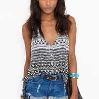 Button Up Tank - Tribal  in  What's New at Nasty Gal