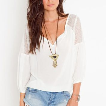 Jardin Lace Blouse in  Clothes Tops at Nasty Gal