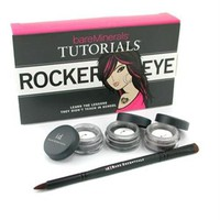 BareMinerals Rocker Eye Tutorials: 2x Eye Color 0.28g + Liner Shadow 0.28g + Double-Ended Rock ' N ' Roll Brush 4pcs