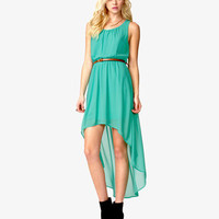 High-Low Dress w/ Skinny Belt