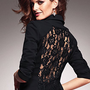 Lace-Back Ponte Jacket