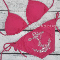 Paradise Pink Anchor Booty Sailor Bikini