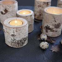 glass lined birch votive by rowen & wren | notonthehighstreet.com