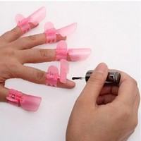 Amazon.com: Cyprustech - 10x Pink Manicure Finger Nail Art Design Tips Cover Polish Shield Protector Clip - Japan New Hot: Beauty
