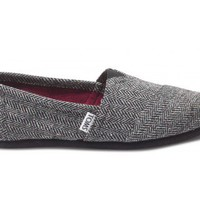 Black metallic Herringbone Women's Classics | TOMS.com
