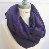Royal Purple  Scarf  Plain Color Infinity Scarf Free Shipping  Women Scarves Autumn Neckwarmer - by PiYOYO