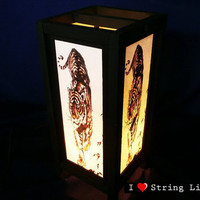 Tiger Mulberry Paper Lantern Oriental Style for home decorate (Converter plug included)